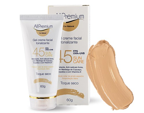 Creme facial tonalizante Sun Care FPS 45 / Natural