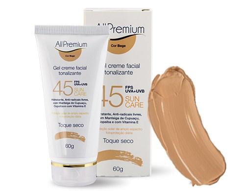 Creme Facial Tonalizante Sun Care FPS 45 Bege